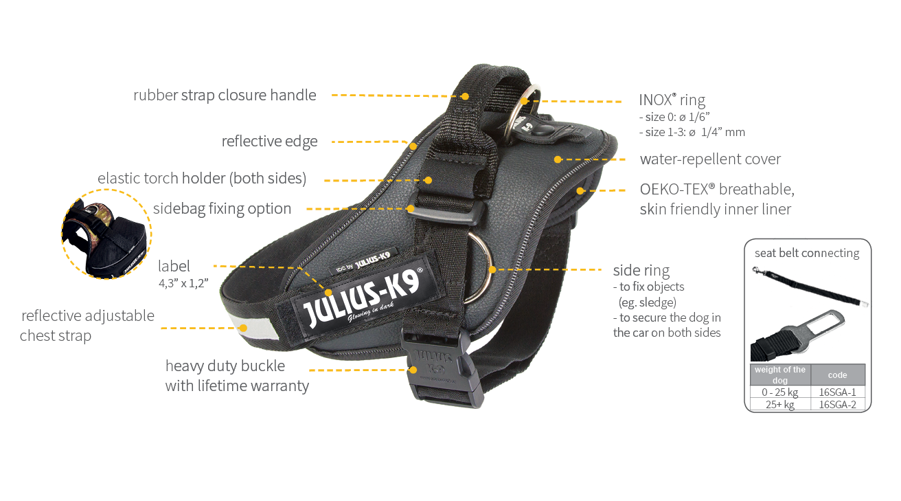 julius k9 idc side ring harness